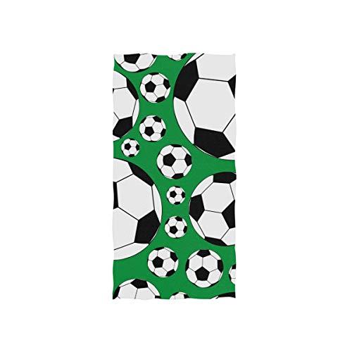MyDaily Mikrofaser-Handtuch, Fußball, Grün, schnell trocknend, für Sport, Fitness, Schweiß, Gesichtshandtuch, 38,1 x 76,2 cm