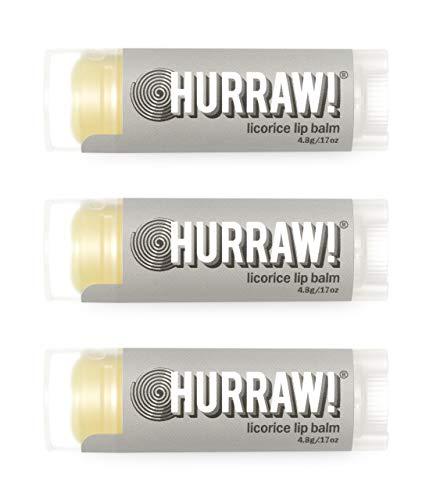 Hurraw Licorice Lip Balm, 3 Pack