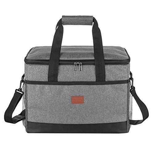 BIBOKO Bolsa isotérmica para pícnic, plegable, nevera para el almuerzo con correa ajustable, bolsa impermeable, bolsa térmica para transporte de alimentos, al aire libre, camping, barbacoa, senderismo
