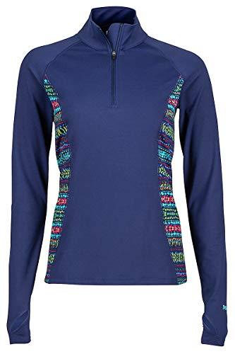 Marmot Meghan - T-Shirt Manches Longues Femme - Bleu/Multicolore Modèle L 2017 t Shirt Manches Longues