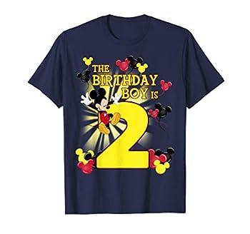 Disney Mickey And Friends Mickey 2nd Birthday Boy T-Shirt