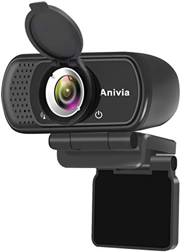 Anivia PC-Kamera mit Mikrofon 1080p-Webcam-Kamera Full HD-Webcam USB-Streaming-Kamera W5 Hochauflösendes eingebautes Stereomikrofon Lebensechtes Videoanruf- und Aufnahmesystem für PC-Laptops