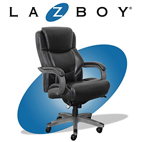 La-Z-Boy Delano Big & Tall Executive Office Chair, High Back Ergonomic Lumbar Support, Bonded...