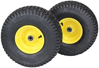 (Set of 2) 15×6.00-6 Tires & Wheels...