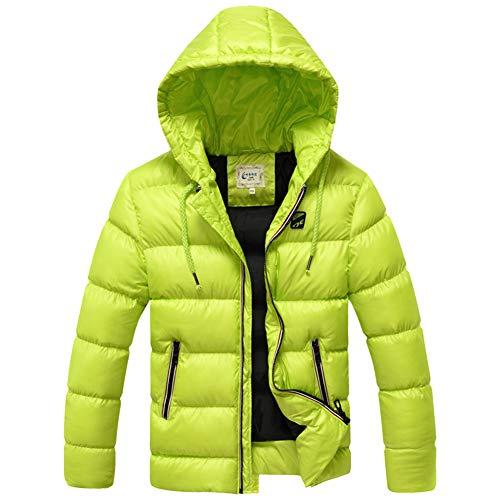 SXSHUN Niños Chaqueta de Nieve para Invierno Boys' Snow Jacket Abrigo Acolchado con Capucha para Chicos, Verde, 12-14 años (Etiqueta: 160cm)