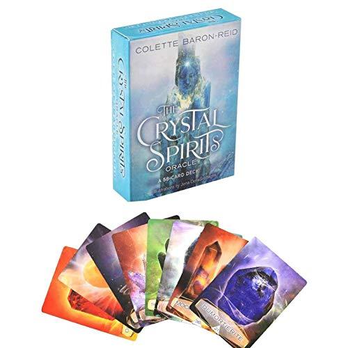 LHJY Crystal Spirits Oracle, Un Mazzo da 58 Carte per Connettersi con L'Universo Cosciente, per Una Guida Pratica E Approfondimenti sulla Tua Vita (2Box)