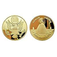 フリーメイソン ゴールド コイン 世界征服を企む秘密結社 Freemasonry (保護ケース付き)