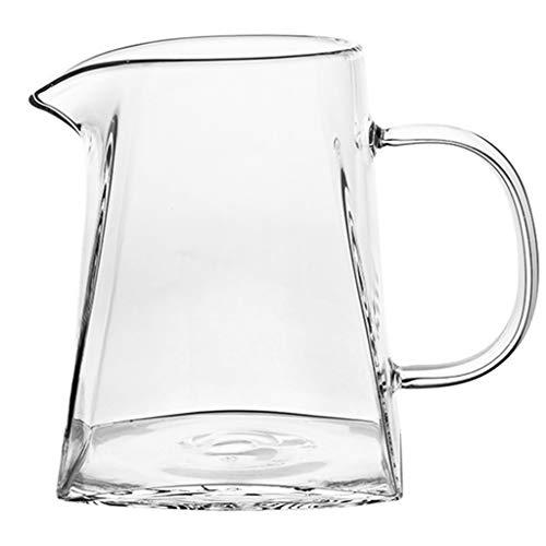 Routine pour carafe / carafe à café - Nouvelle forme en verre - Poignée ergonomique - Capacité de 6 tasses pouvant être utilisée avec les tasses filtre de la série V60, une tasse filtre à 3 trous po