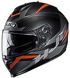 Casco de moto HJC C70 TROKY MC7SF, Negro/Oroange, S