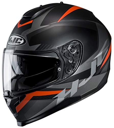 Motorradhelm HJC C70 TROKY MC7SF, Schwarz/Orange, XS