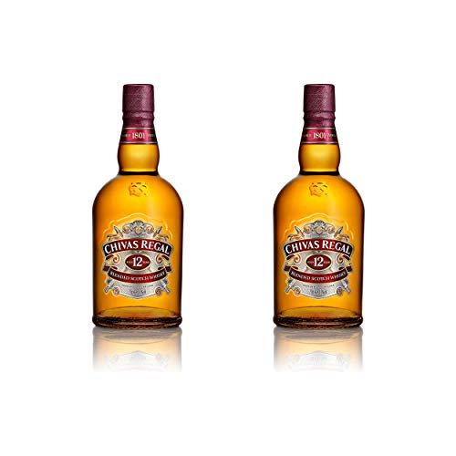Chivas Regal 12 Jahre Blended Scotch Whisky 2er Set, Whiskey, Schnaps, Spirituose, Alkohol, Flasche, 40%, 2x700 ml