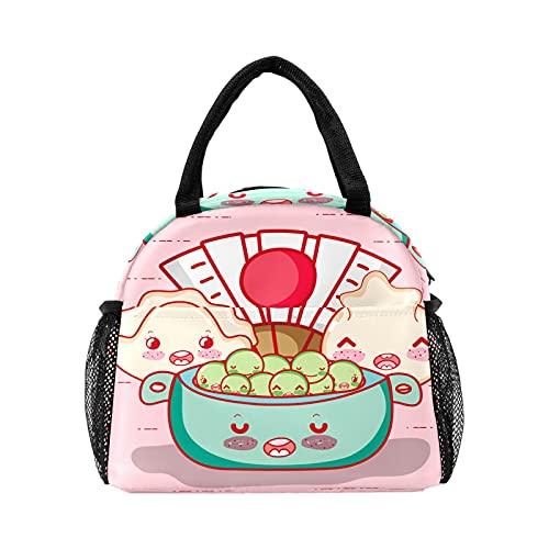 Linda bolsa de almuerzo para abanico de dibujos animados para mujeres con aislamiento personalizado reutilizable caja de almuerzo térmica enfriador bolsa para el trabajo picnic