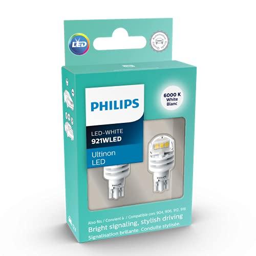Philips 921 Ultinon - Bombilla LED (2 unidades), color blanco