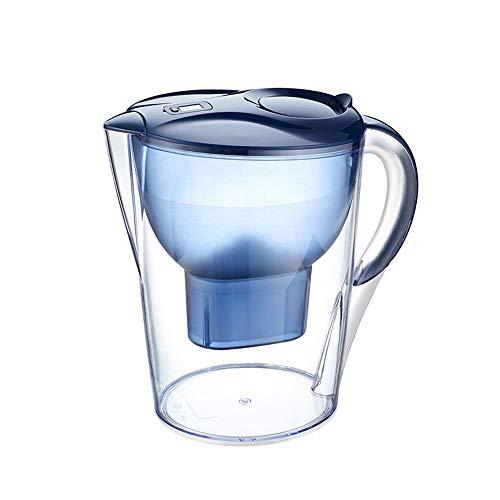 Xiaojie Botella filtrada azul taza de agua blanco filtro de carbón activado caldera limpia