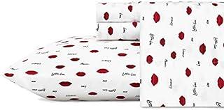 Betsey Johnson Love Lips Sheet Set Queen Red