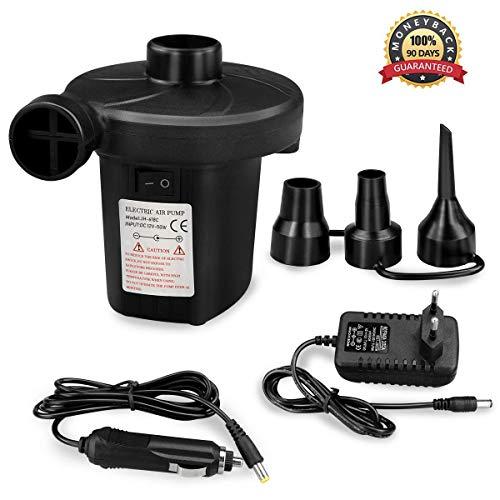 Bluehresy Elektrische Luftpumpe Multifunktion Elektropumpe,2 in 1 Inflate und Deflate Elektrische Pump mit 4 Luftdüse für aufblasbare Matratze,Kissen,Bett,Boot,Schwimmring