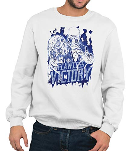 Sub Zero Flawless Victory Sweater Mortal Combat Sweatshirt Gr. M, weiß