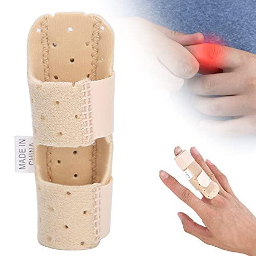 Férula ajustable para dedo, férula para dedo en gatillo Soporte ortopédico para dedo en gatillo, con banda de aluminio fija para el dedo anular del índice medio