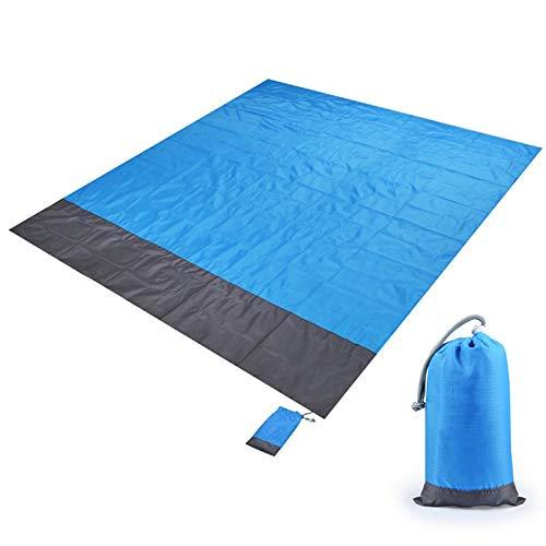 Campingmatta, picknickmatta, 2MX2.1M vattentät strandfilt utomhus bärbar picknickmatta camping golvmatta madrass camping camping säng sovdyna 200 x 140 cm blå