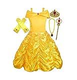ALEAD Disfraz de Princesa Belle Vestido y Accesorios,...