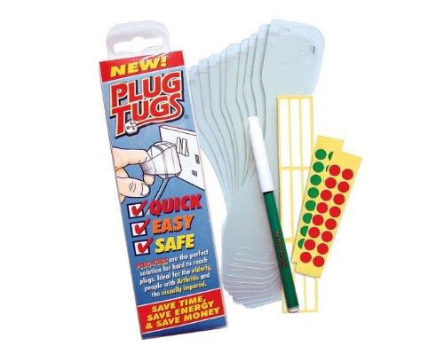 Plug voor aanhanger, eenvoudige trekker, bevat etiketten en een pen, 10 stuks.
