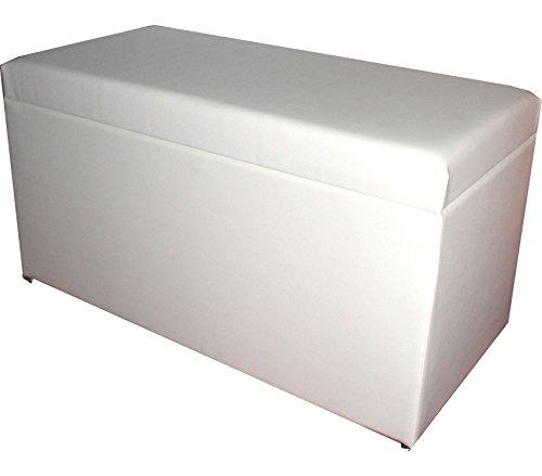 Zebra und Art Design GmbH Zebra und Art Design A1028, Lederimitat, weiß, 78 x 38 x 40 cm Wäschetruhe