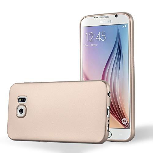 Cadorabo Hülle für Samsung Galaxy S6 in METALLIC Gold - Handyhülle aus flexiblem TPU Silikon - Silikonhülle Schutzhülle Ultra Slim Soft Back Cover Case Bumper