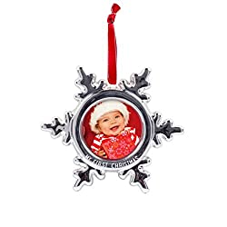 baby's first christmas ornament snowflake