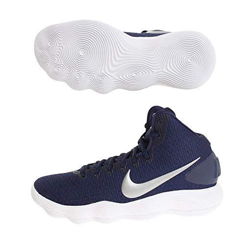 Nike Men's Hyperdunk 2017 TB Basketball Shoe Midnight Navy/Metallic Silver/White Size 15 M US