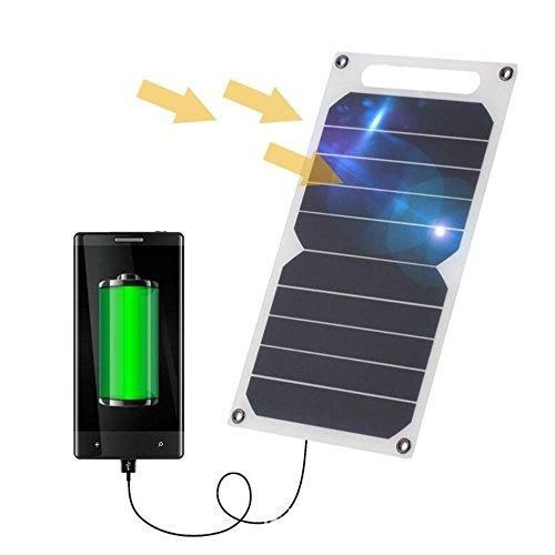 Zuukoo Cargador Solar, 10W 5V Panel Solar Portátil Batería