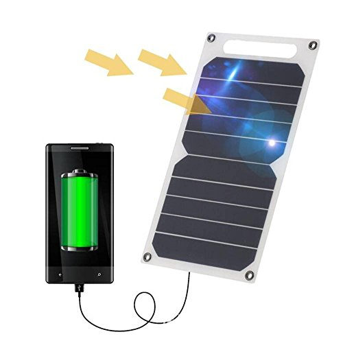Zuukoo Sonnenkollektor, 10W 5V Sonnenkollektor mit USB-Hafen-Ultra dünne Silikon-Solarladegerät Portable für Multi Telefon-Tabletten-Notkampierendes Reisen im Freien