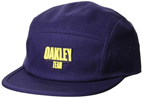 Oakley Men's 5 Panel Team Hat, Strong Violet, S/M