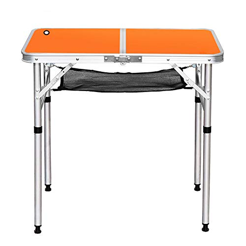 JTLB Folding Camping Table, Camping Table Folding Aluminum Collapsible Lightweight Portable Compact Camp Table for Outdoor Picnic Cookout