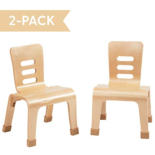 """ECR4Kids 10"""" Bentwood Stacking Chair Set, School Seating for Students,..."""