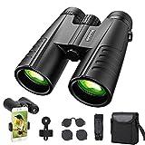 Binoculars for Bird Watching,acetek Compact Binoculars for Adults Kids with Universal Phone Adapter,BAK4 Prism FMC Lens & Clear Low Light Vision,High Powerful Binoculars for Concert Travel(12x42)