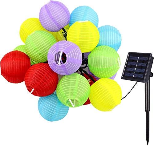 YYhkeby Solar Lanterns String Lights, 20ft 30 LED Outdoor Waterproof Lanterns Fairy String Lights for Garden Yard PartyHome Decoration (Multi) Jialele (Color : Multi)