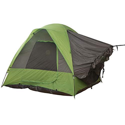 Outsunny Autozelt, Campingzelt, Reisezelt, für 4-5 Personen, Glasfaser Polyester, Grün, 300 x 300 x 230 cm