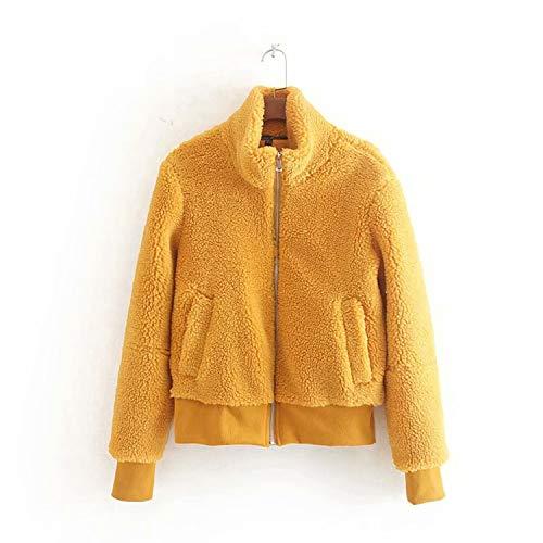 OneCherry sweater Women Teddy Bear Bomber Jacket Faux Fur Shaggy Coat Plush Soft Fleece Elegant Outwear Fall Winter as picture1 M