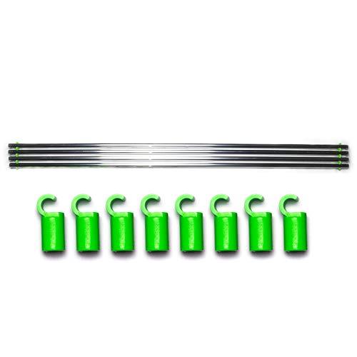 growber - Fixture Poles Für 16mm Zeltstangen - Stangen Set für Growbox und Growzelt