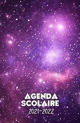 Agenda scolaire 2021-2022 motif galaxie: Un sublime agenda journalier pour élémentaire, collège, lycée