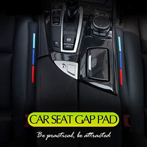 2PCS 46cm PU cuero sintético asiento de coche hendidura hueco relleno ranura enchufe cubierta pad universal M accesorios deportivos (negro)