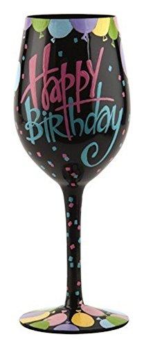 Lolita - Copa de vino multicolor para cumpleaños, 22,9 cm (4054097) Contemporáneo...