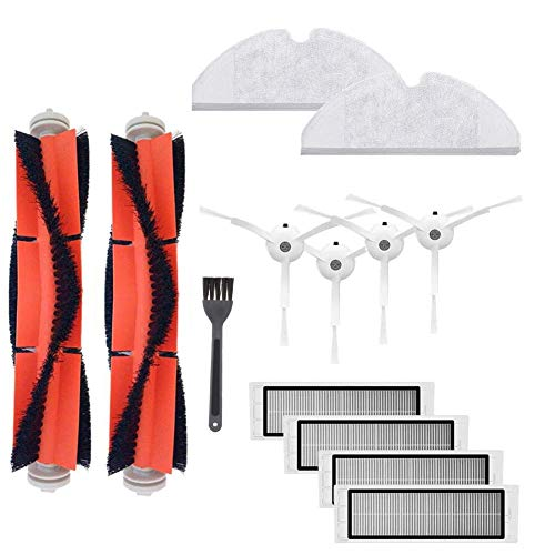 Funnytime 13 Kits for XIAOMI MI Robot S50 S51 Vacuum Cleaner, Replacement Parts with 2 Brush and 4 Filters + 2 Rag for Robot Roborock Aspiradora