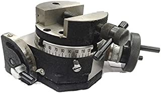 """PRECISION QUALITY 4""""/ 100 MM TILTING MILLING INDEXING ROTARY TABLE WITH ROUND VICE-METALWORKING ENGINEERING MACHINE TOOLS (WITH 100 MM ROUND VICE)"""