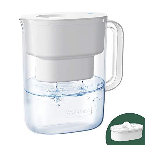 Waterdrop NSF Zertifizierte Wasserfilterkrug 3.5L mit 1×90 Tage Filterkartusche und 7-Stufige Filteration zur Reduzierung von Chlor, Geruch und Mehr, Weiß