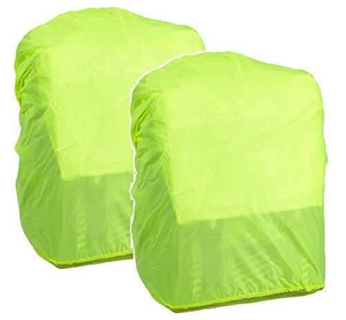 Hama Regenschutz- und Sicherheitshülle für Schulranzen und Rucksäcke (Regenhüllle in auffälliger Signalfarbe, mit Gummizug, mit Aufbewahrungstasche) gelb (2)