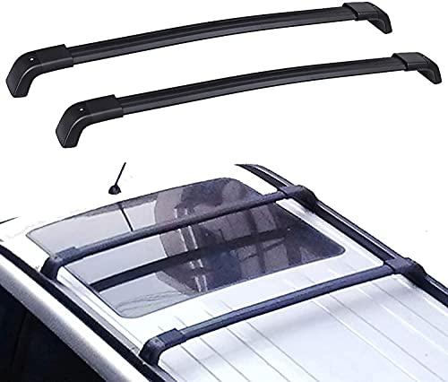 2 Piezas Coche Bacas y portaequipajes para Nissan X-Trail 2008-2013, Techo Aluminio Barras Transversales Portaequipajes De Bicicleta