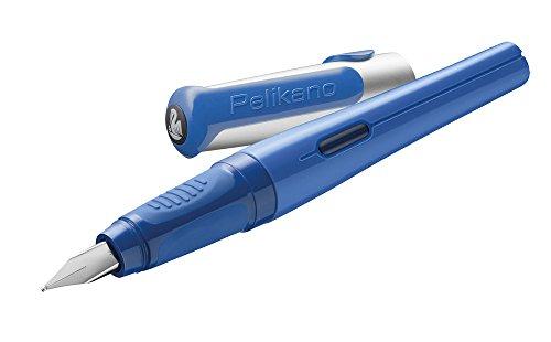 Pelikan 958629 Pelikano Füllhalter Feder M für Rechtshänder, blau