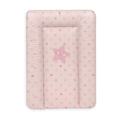 Ceba Baby Fasciatoio Materassino morbido Fasciatoio 70x50 cm, 70x75 cm, 70x85 cm Cuscino Fasciatoio Lavabile per bambine e bambini - Rosa 70 x 50 cm