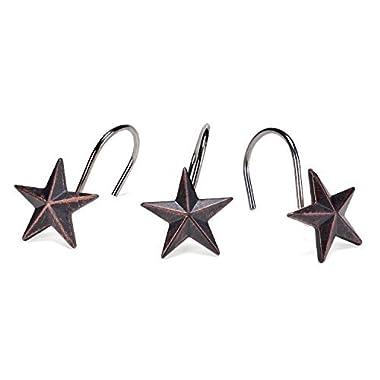 AGPtekStar Decorative Shower Curtain Hooks, set of 12